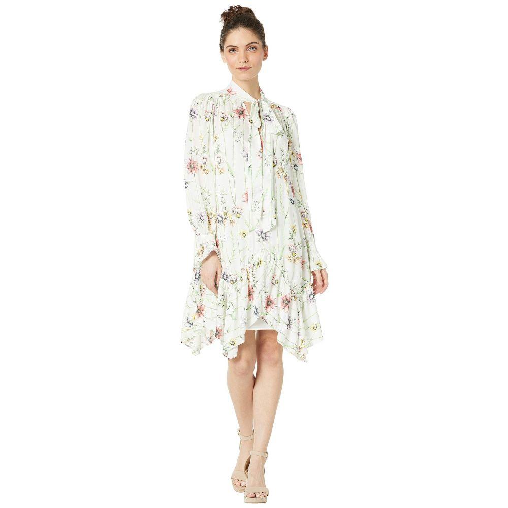 ビーシービージーマックスアズリア BCBGMAXAZRIA レディース ワンピース・ドレス ワンピース【Floral Asymmetrical Dress】Botanical Floral Garden/Gardenia
