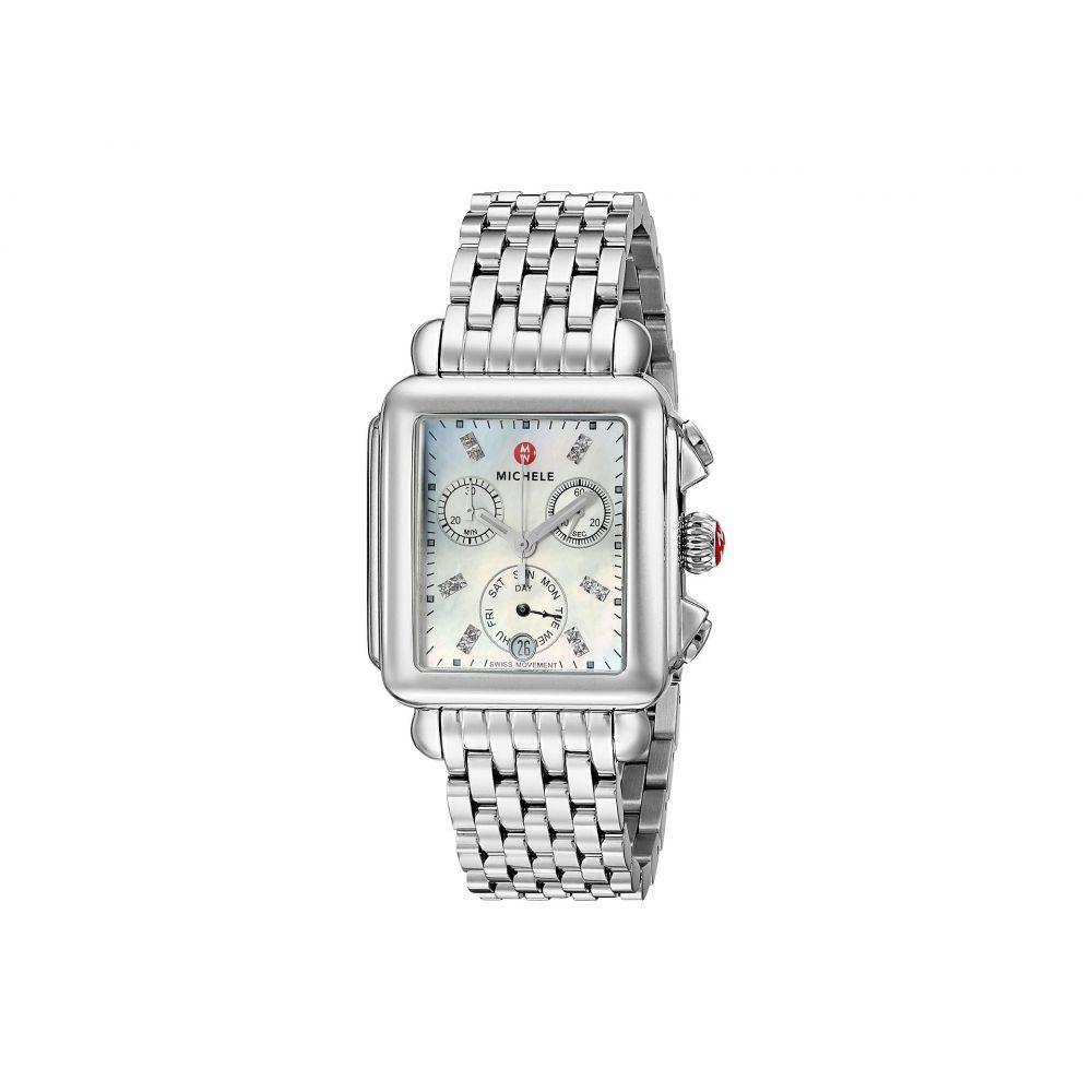ミッシェル Michele レディース 腕時計【Deco Diamond Dial Stainless Steel Watch】Silver