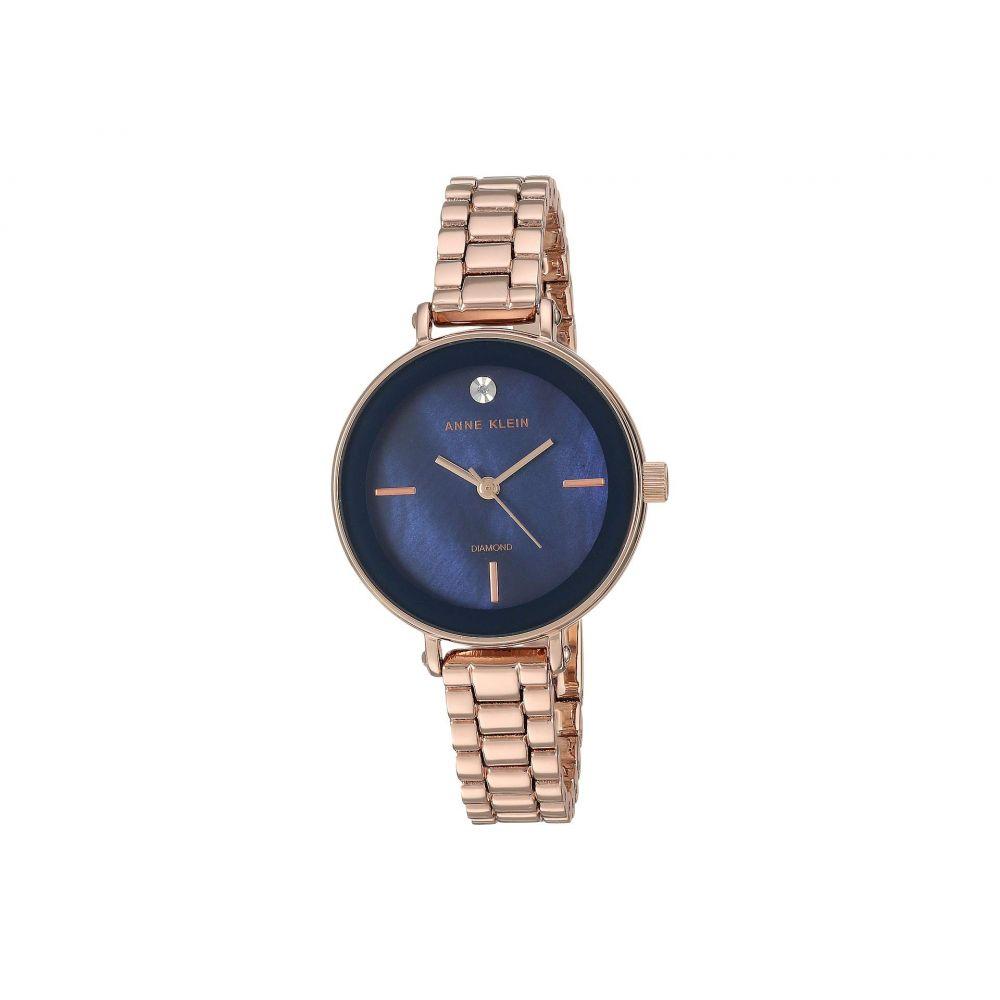 アン クライン Anne Klein レディース 腕時計【AK-3386NMRG】Navy/Rose Gold-Tone