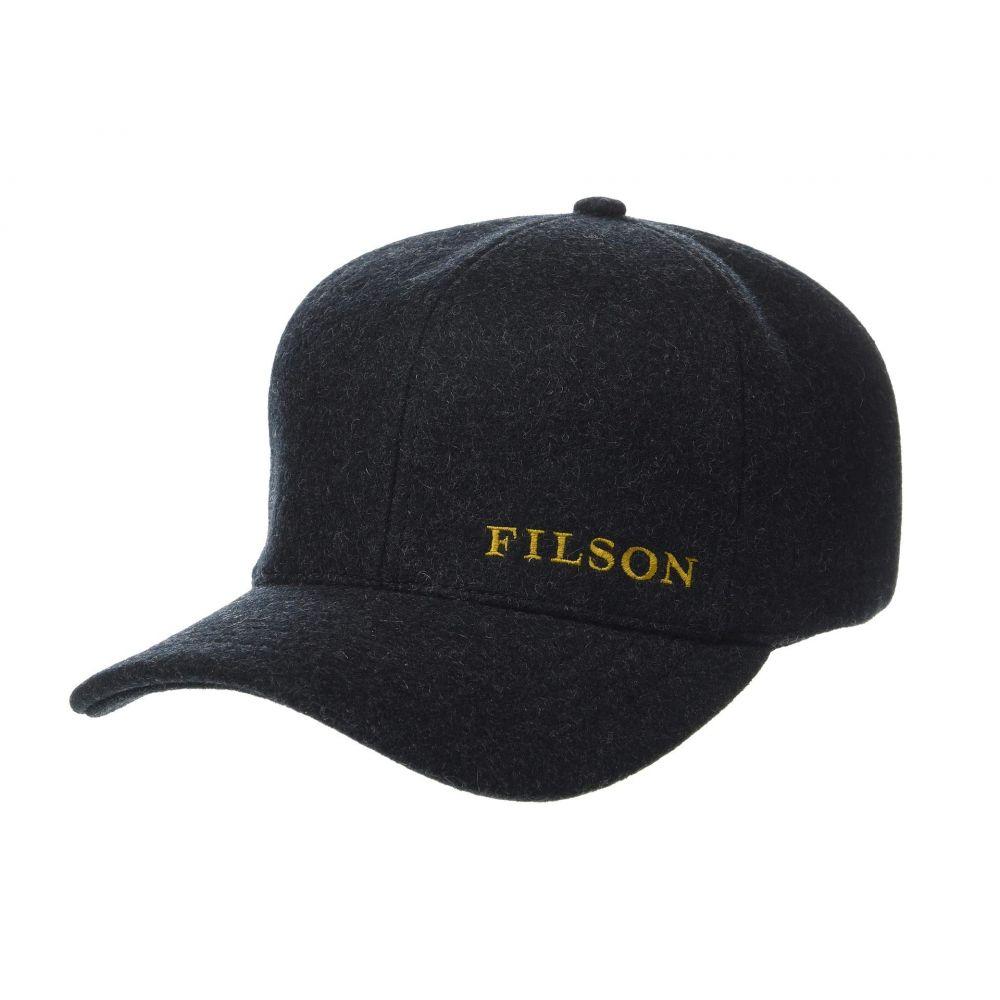 フィルソン Filson レディース 帽子 キャップ【Wool Logger Cap】Charcoal