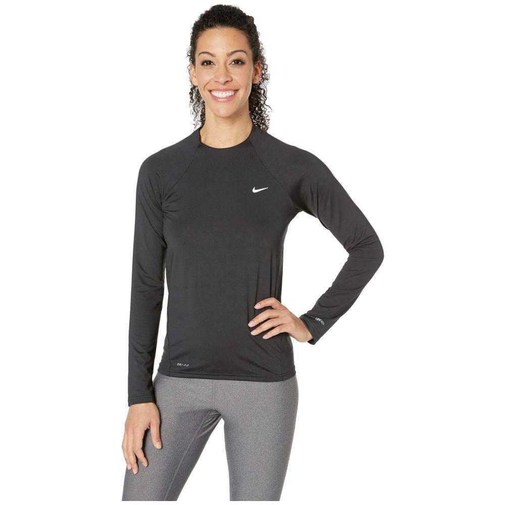 ナイキ Nike レディース 水着・ビーチウェア ラッシュガード【Solid Long Sleeve Hydroguard】Black