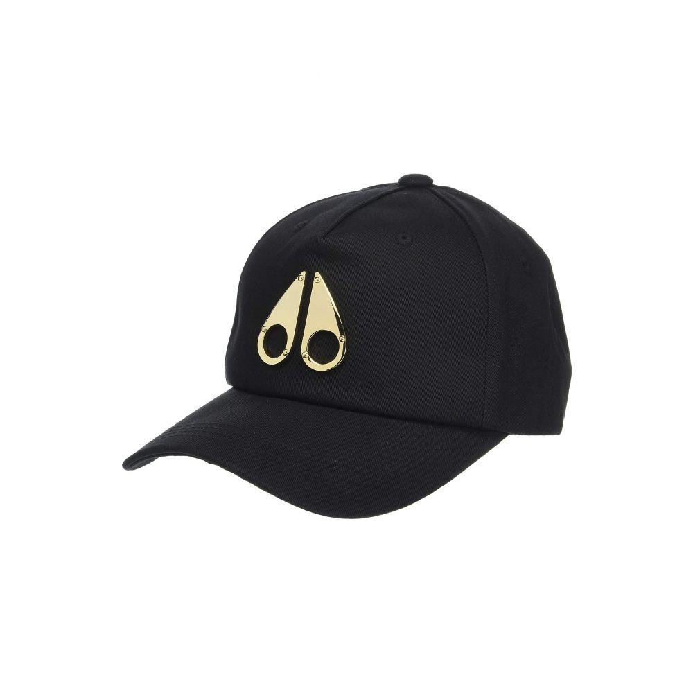 ムースナックル Moose Knuckles レディース 帽子 キャップ【West Fort Cap】Black/Gold Logo