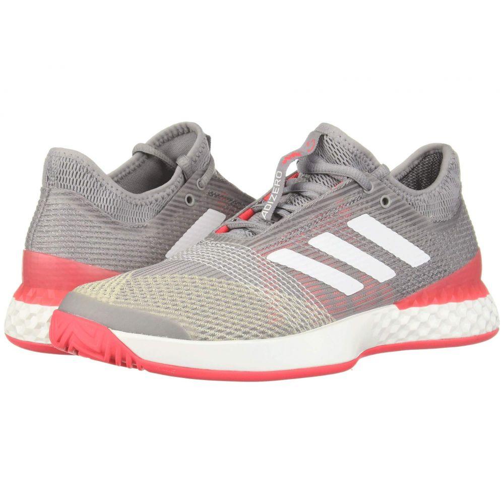 アディダス adidas メンズ テニス シューズ・靴【adizero Ubersonic 3】Light Granite/Footwear White/Shock Red