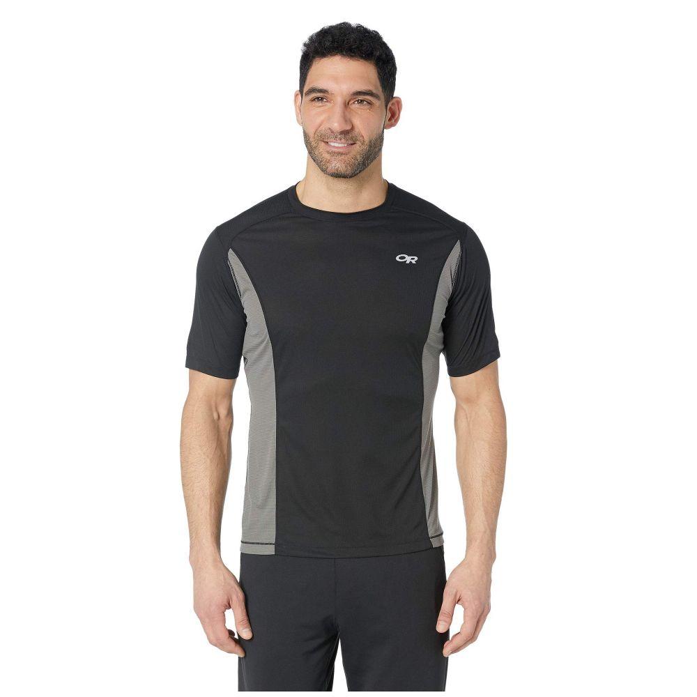 アウトドアリサーチ Outdoor Research メンズ トップス Tシャツ【Echo Short Sleeve Tee】Black/Pewter