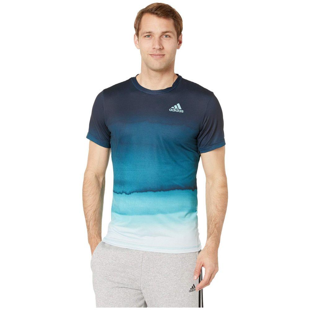 アディダス adidas メンズ トップス Tシャツ【Parley Print T-Shirt】White/Easy Blue