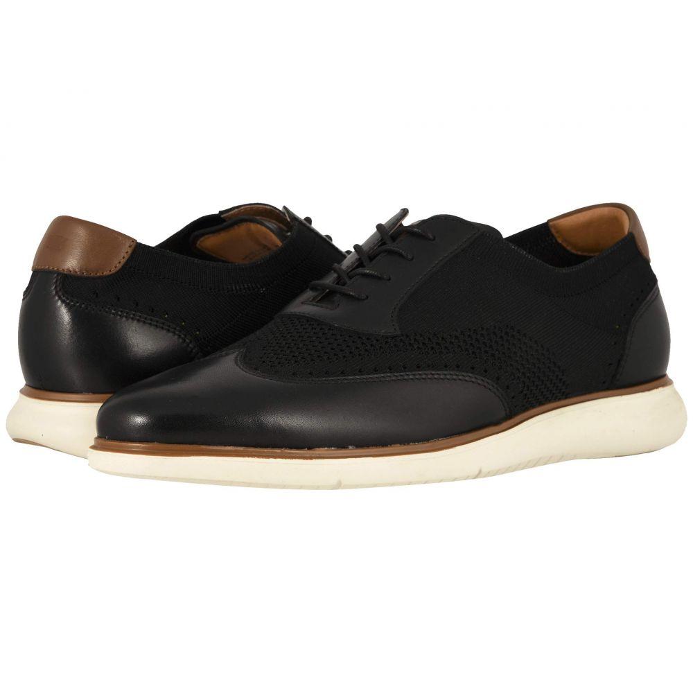 フローシャイム Florsheim メンズ シューズ・靴 革靴・ビジネスシューズ【Fuel Knit Wing Tip Oxford】Black Smooth w/ White Sole