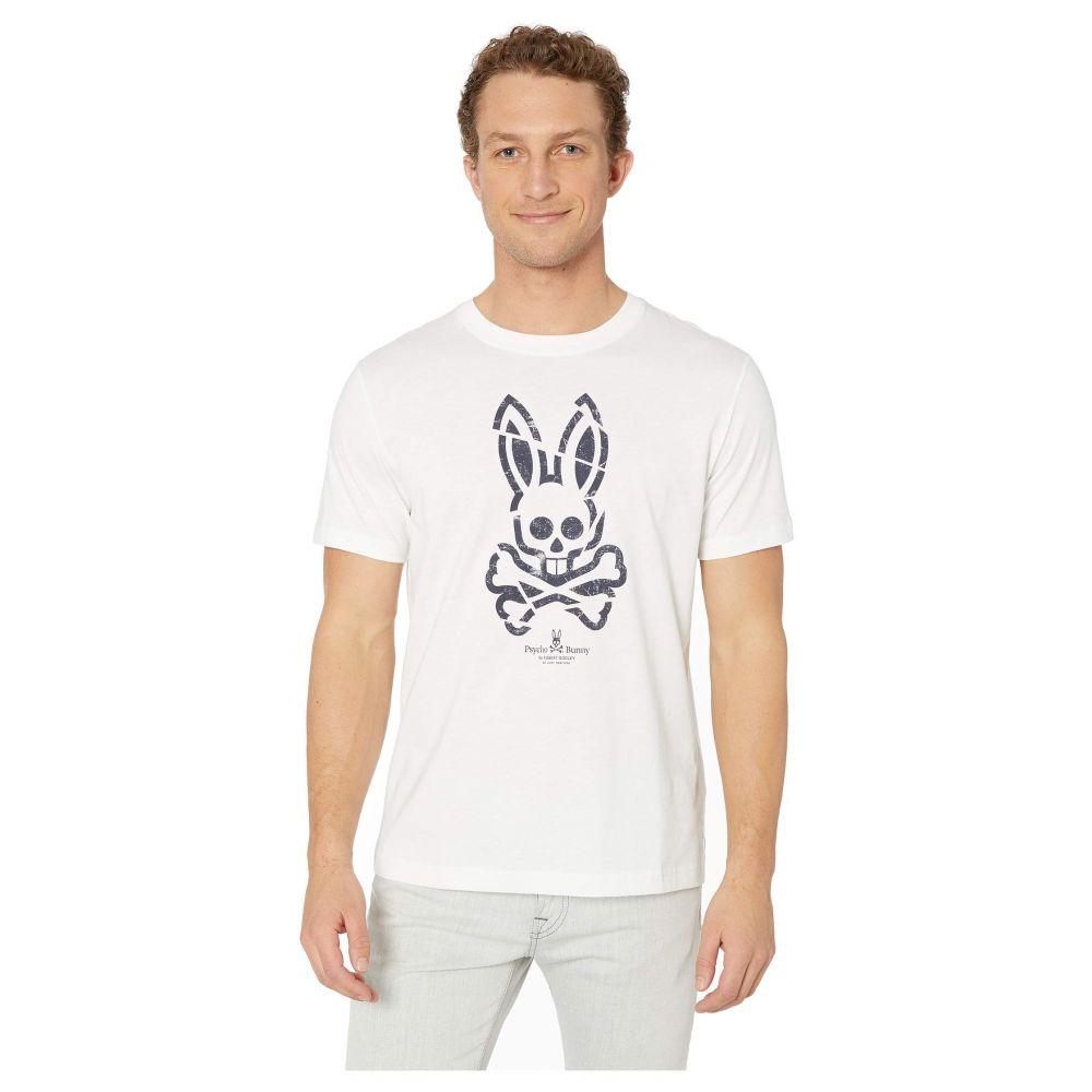サイコバニー Psycho Bunny メンズ トップス Tシャツ【Teston Printed T-Shirt】White