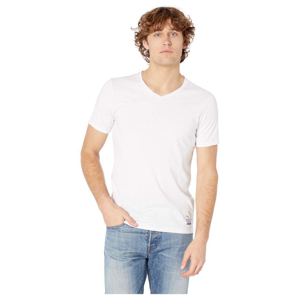 スコッチ&ソーダ Scotch & Soda メンズ トップス Tシャツ【Classic Solid Cotton/Jersey V-Neck Tee】White