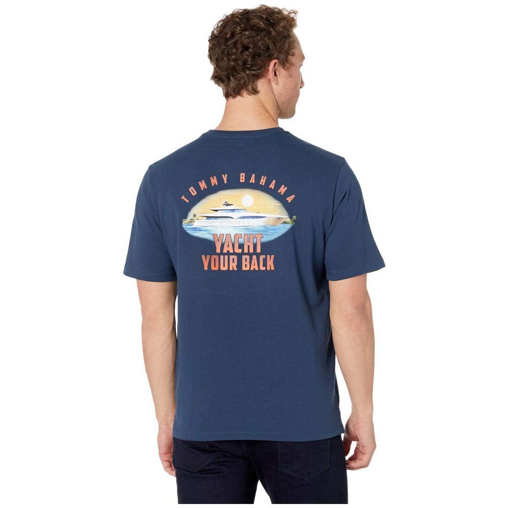 トミー バハマ Tommy Bahama メンズ トップス Tシャツ【Short Sleeve Yacht Your Back Tee】Navy