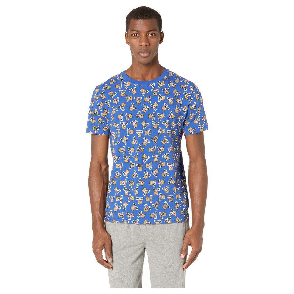 モスキーノ Moschino メンズ トップス Tシャツ【All Over Underbear Slim T-Shirt】Bluette
