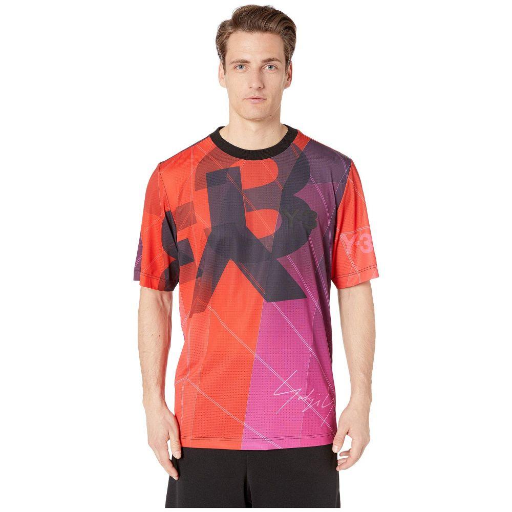 ワイスリー adidas Y-3 by Yohji Yamamoto メンズ トップス Tシャツ【Aop Football Shirt】Sail Burgundy Aop