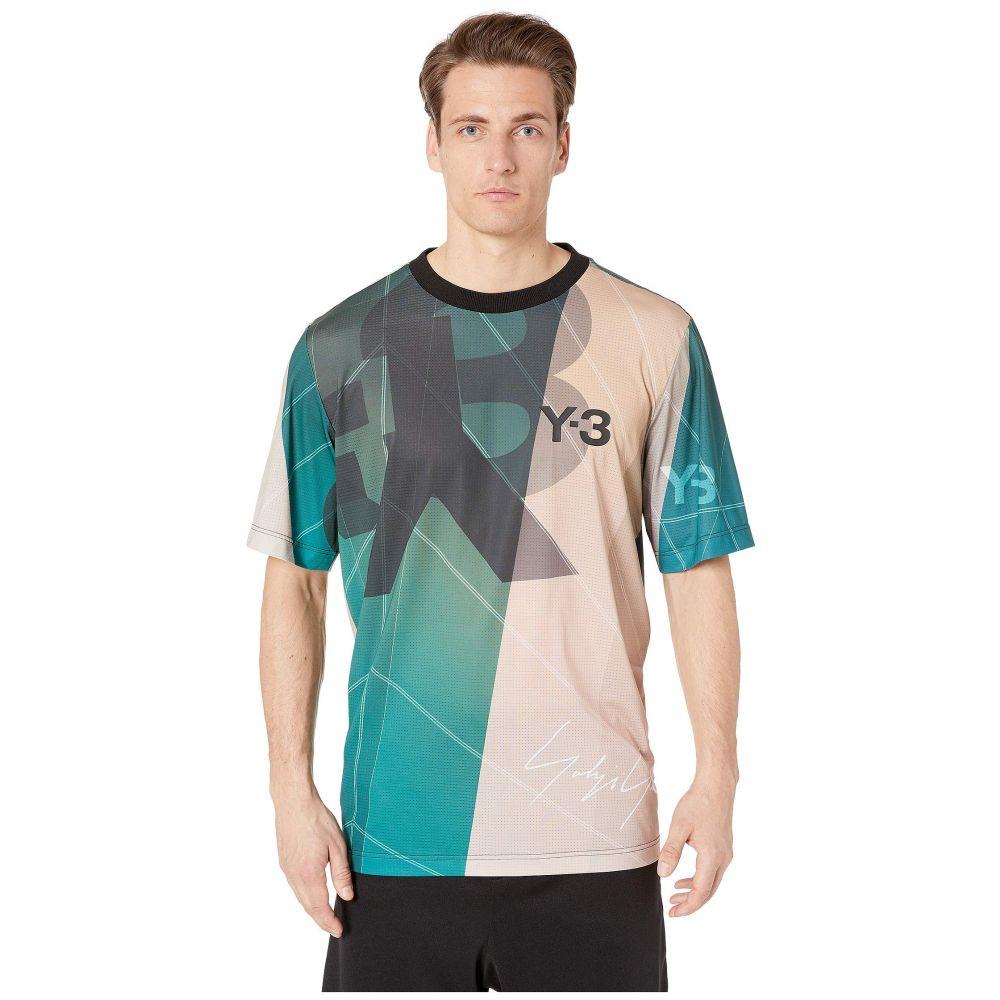 ワイスリー adidas Y-3 by Yohji Yamamoto メンズ トップス Tシャツ【Aop Football Shirt】Sail Salty Champagne Aop