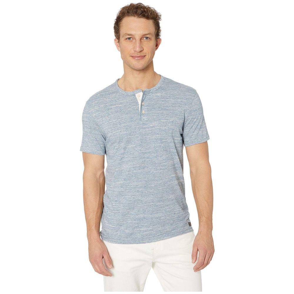 ラッキーブランド Lucky Brand メンズ トップス Tシャツ【Henley Space Dye Tee】Space Dye Blue