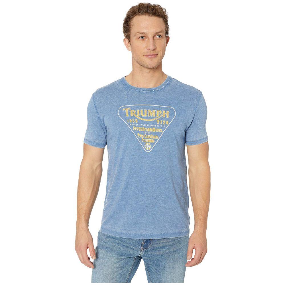 ラッキーブランド Lucky Brand メンズ トップス Tシャツ【Triumph Twin Carb Tee】Federal Blue