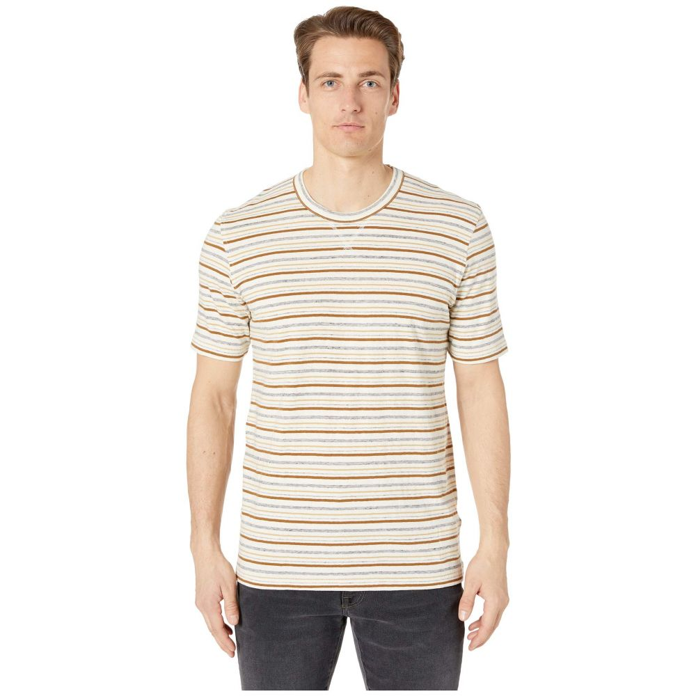 ビリー レイド Billy Reid メンズ トップス Tシャツ【Short Sleeve Striped Tee】Cream Stripe