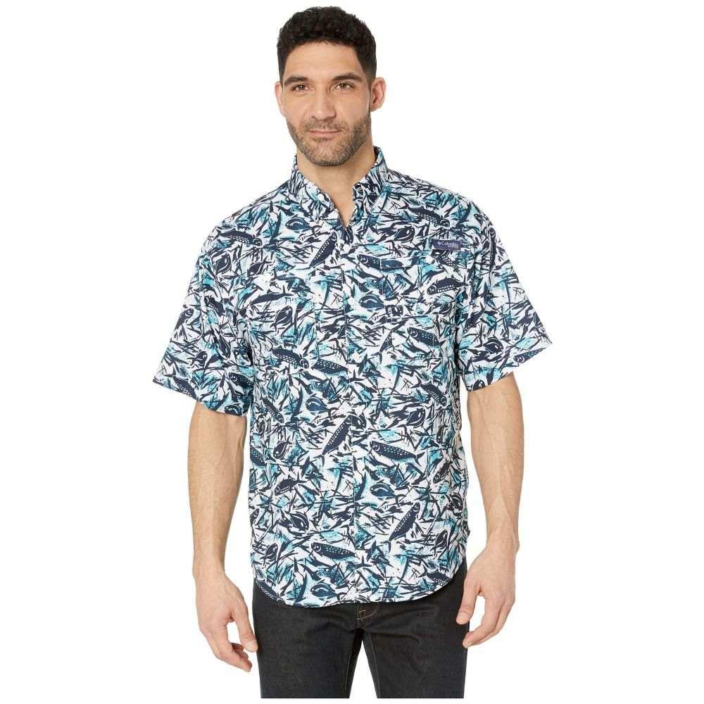 コロンビア Columbia メンズ トップス 半袖シャツ【Super Tamiami(TM) Short Sleeve Shirt】Collegiate Navy Tarpons n Permits