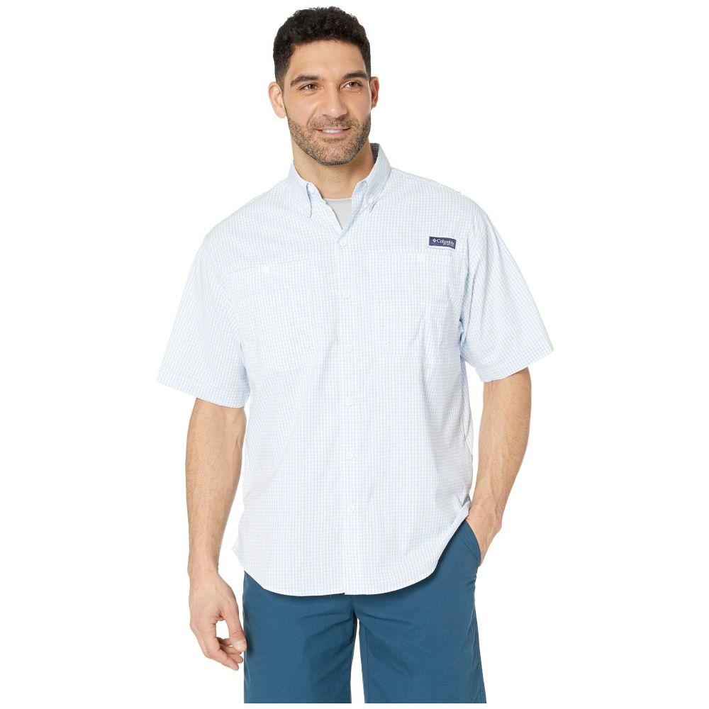 コロンビア Columbia メンズ トップス 半袖シャツ【Super Tamiami(TM) Short Sleeve Shirt】White Cap Mini Plaid