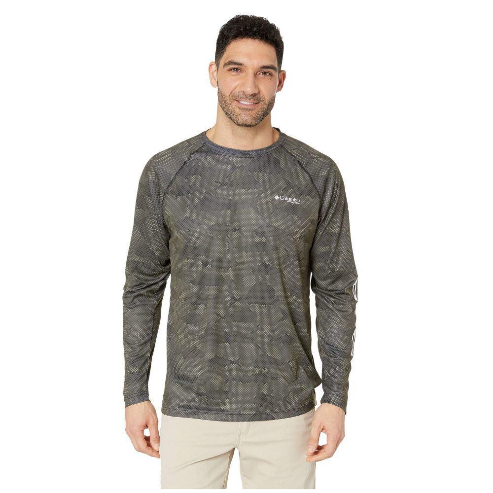 コロンビア Columbia メンズ トップス 長袖Tシャツ【Super Terminal Tackle Long Sleeve Shirt】Black Multi Fish