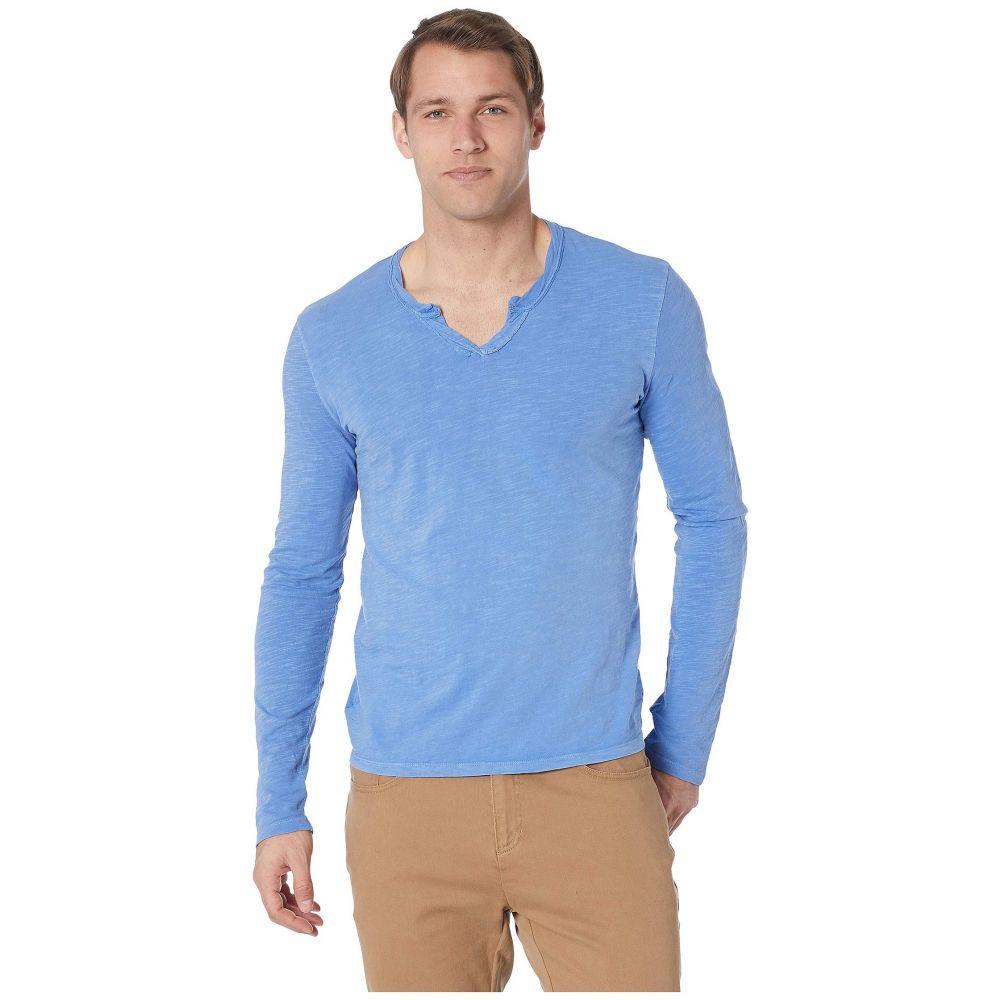 モドオードック Mod-o-doc メンズ トップス 長袖Tシャツ【Les Carillo Long Sleeve Notch Slub Jersey V-Neck】Delft