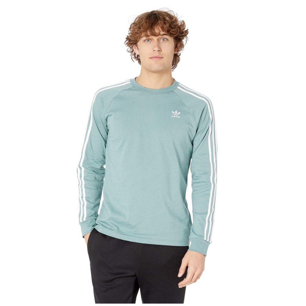 アディダス adidas Originals メンズ トップス 長袖Tシャツ【3-Stripes Long Sleeve Tee】Vapour Steel
