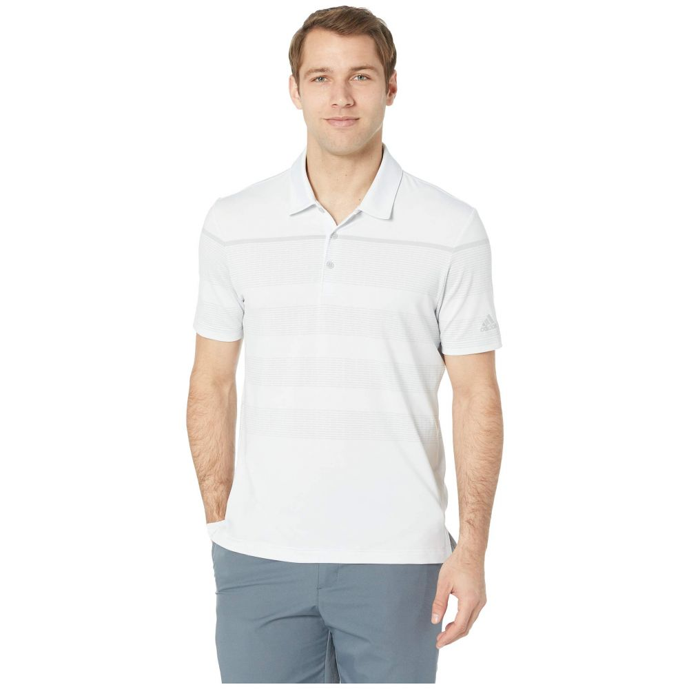 アディダス adidas Golf メンズ トップス ポロシャツ【Ultimate Engineered Stripe Polo】Crystal White/Grey Two