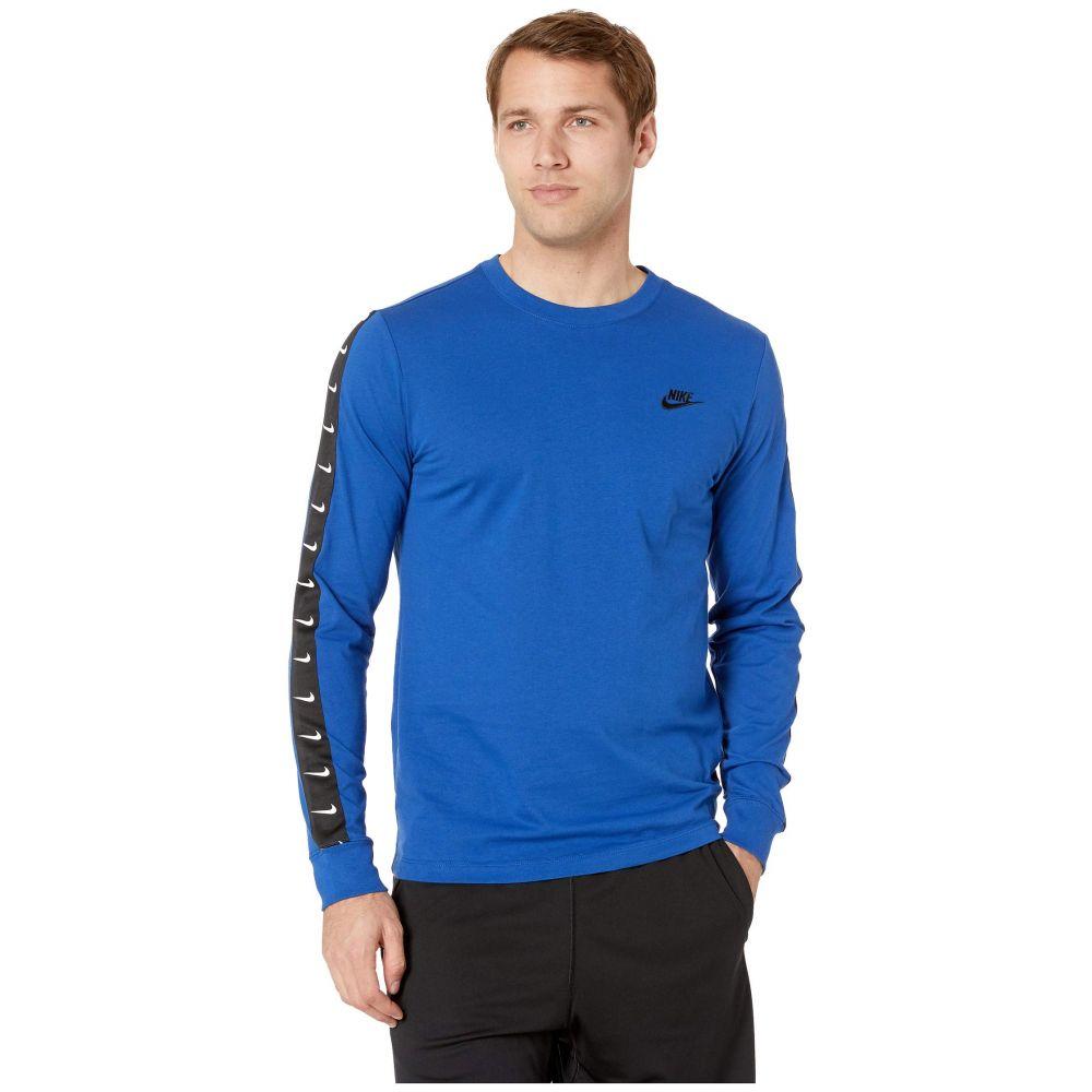 ナイキ Nike メンズ トップス 長袖Tシャツ【NSW Long Sleeve Swoosh 2 Tee】Indigo Force/Black