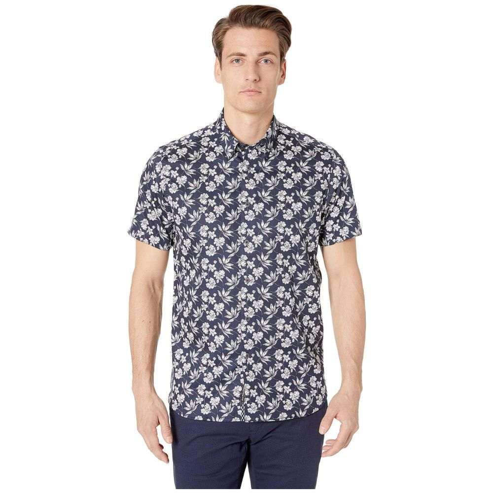 テッドベーカー Ted Baker メンズ トップス 半袖シャツ【Koalr Short Sleeve Statement Print Shirt】Navy