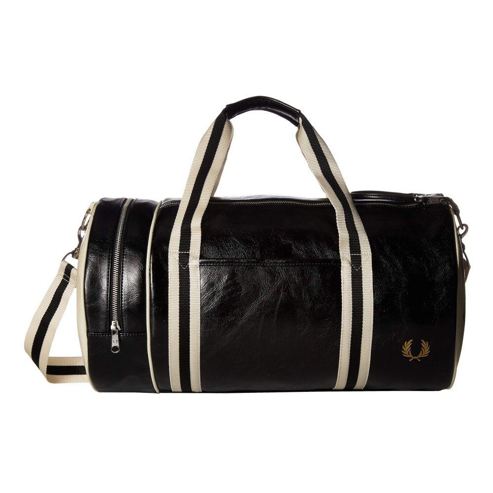 フレッドペリー Fred Perry メンズ バッグ ボストンバッグ・ダッフルバッグ【Classic Barrel Bag】Black/Ecru