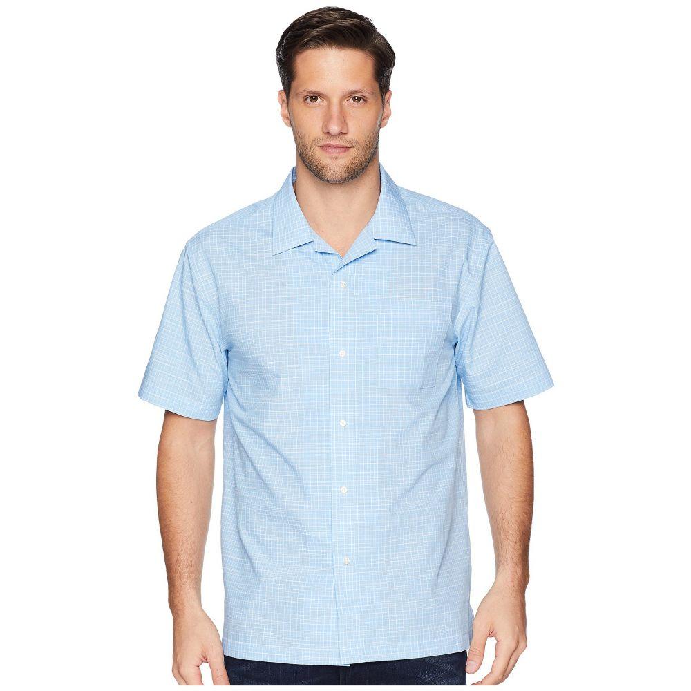 マグナレディ Magna Ready メンズ トップス 半袖シャツ【Short Sleeve Magnetically-Infused Dress Shirt - Spread Collar】Light Blue/White