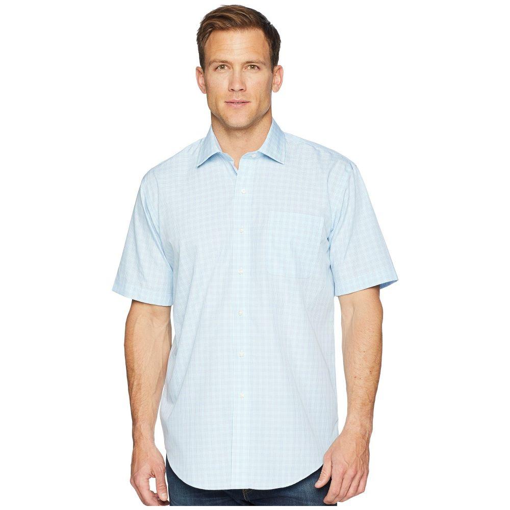 マグナレディ Magna Ready メンズ トップス 半袖シャツ【Short Sleeve Magnetically-Infused Check Dress Shirt- Spread Collar】Green/Blue
