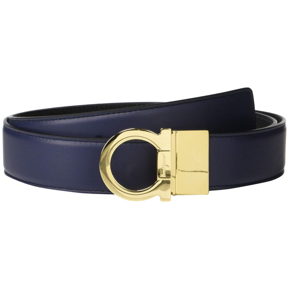 サルヴァトーレ フェラガモ Salvatore Ferragamo メンズ ベルト【Adjustable/Reversible Belt - 67A004】Blue Marine