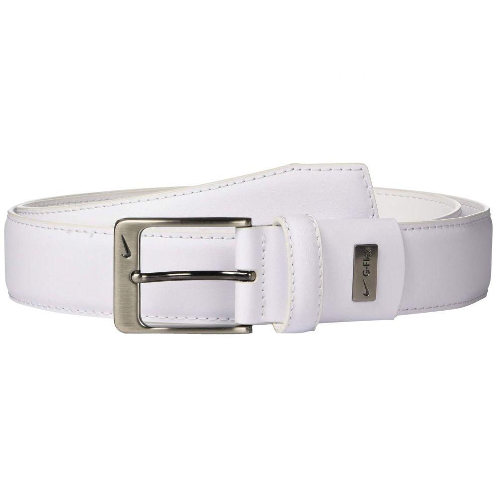 ナイキ Nike メンズ ベルト【Leather Woven G-Flex】White