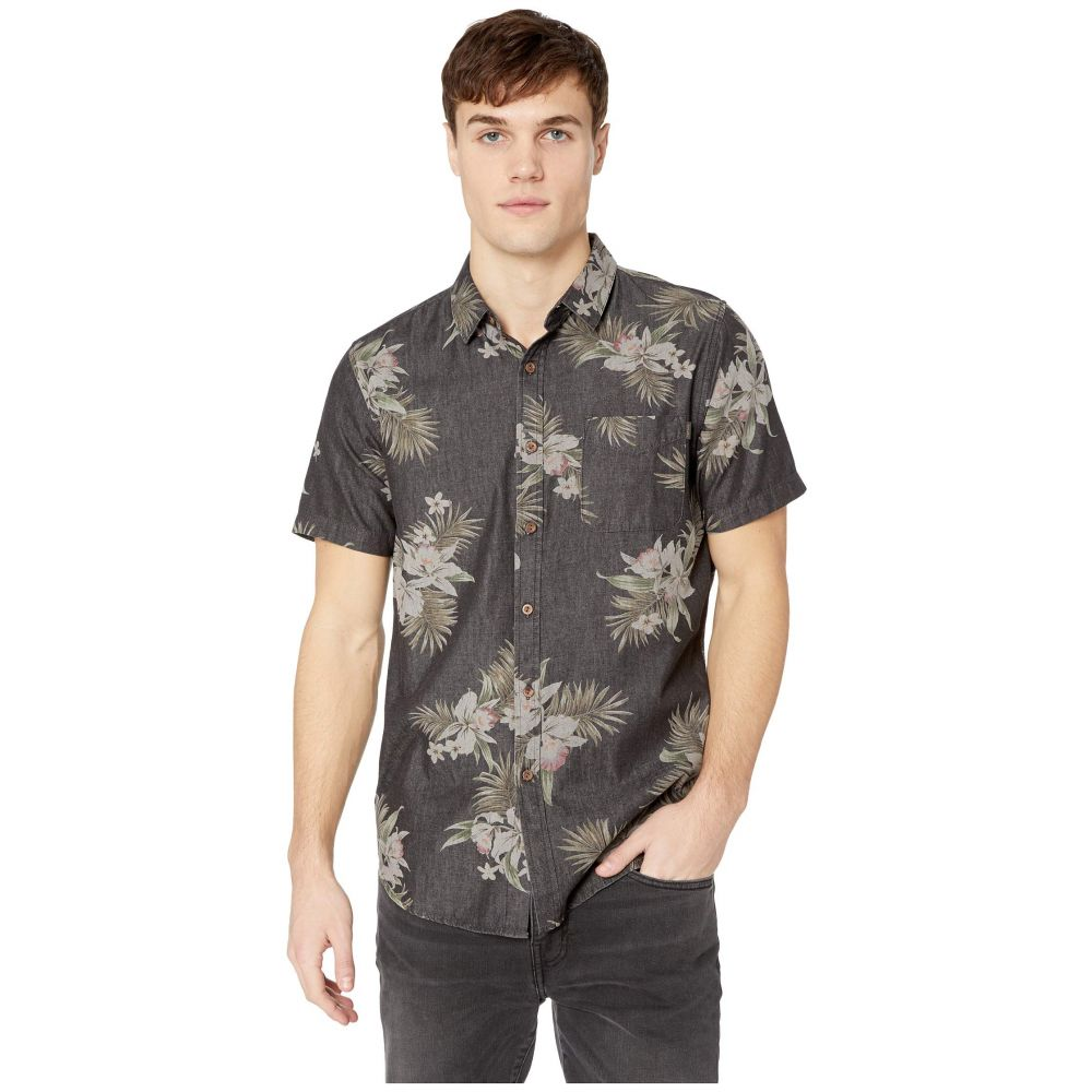 リップカール Rip Curl メンズ トップス 半袖シャツ【Atoll Short Sleeve Shirt】Black