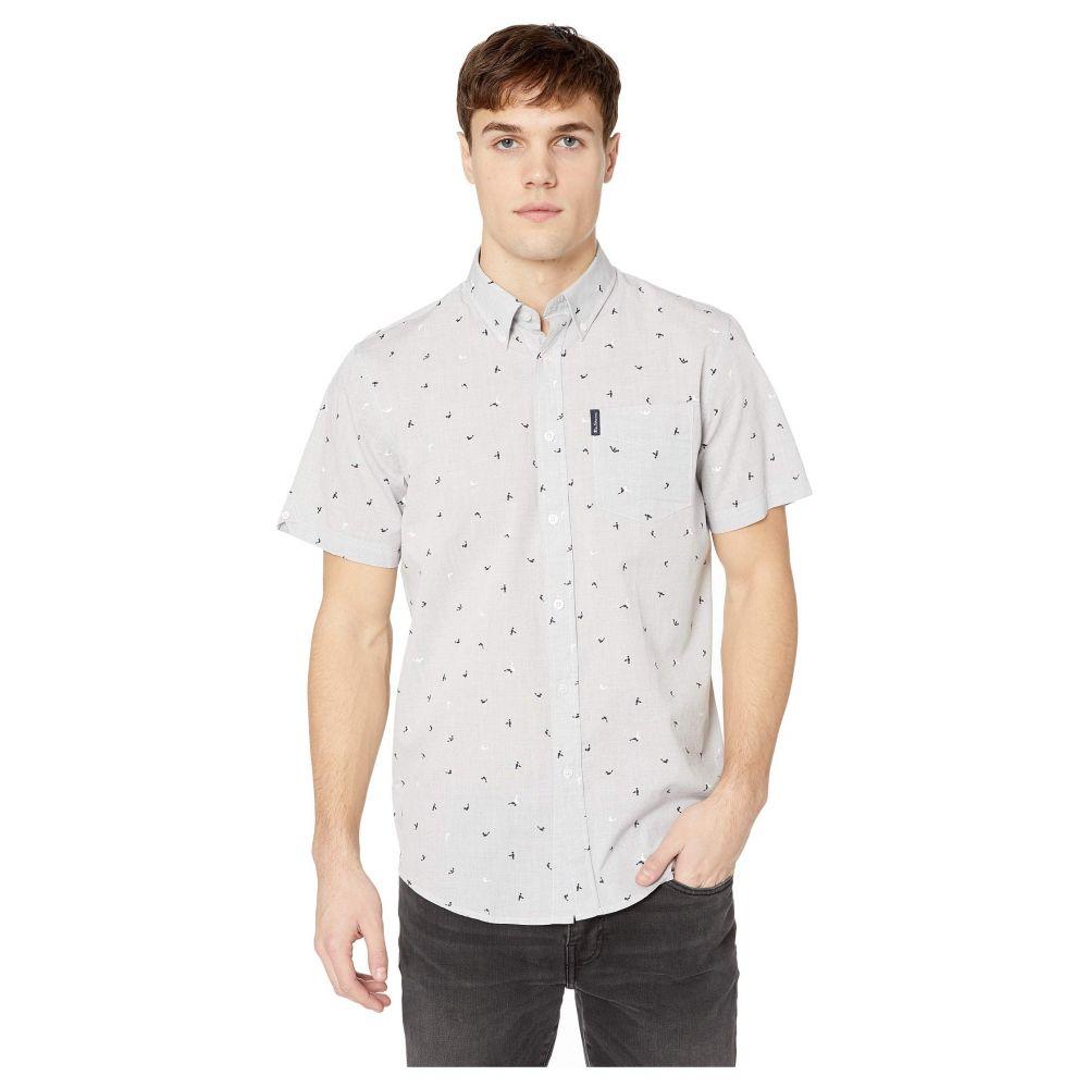 ベンシャーマン Ben Sherman メンズ トップス 半袖シャツ【Short Sleeve Slub Bird Print Shirt】Grey