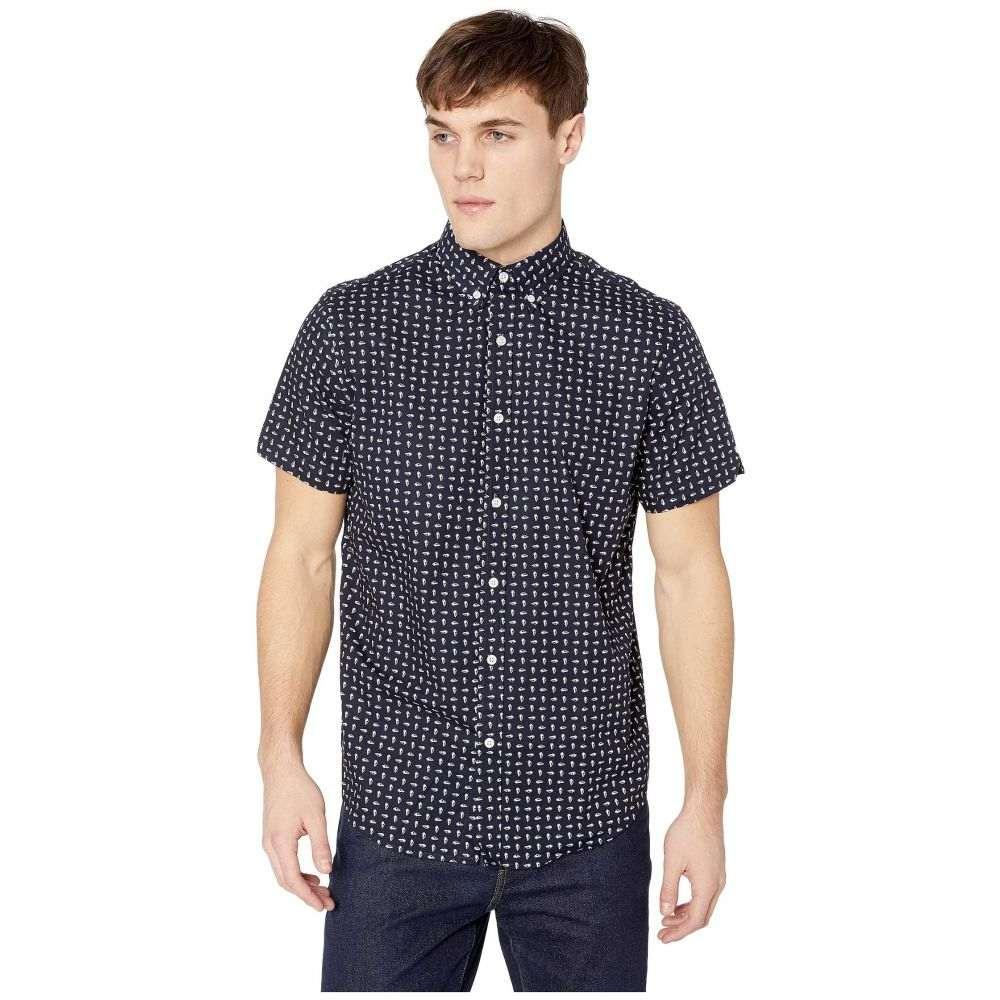 ベンシャーマン Ben Sherman メンズ トップス 半袖シャツ【Short Sleeve Seashell Print Shirt】Navy