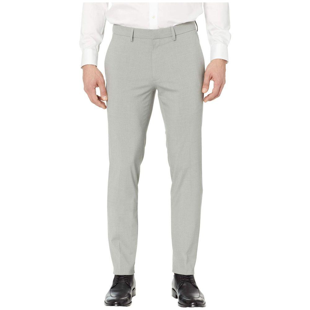 ケネス コール Kenneth Cole Reaction メンズ ボトムス・パンツ スキニー・スリム【Heather Glen Plaid Slim Fit Flat Front Flex Waist Dress Pants】Grey