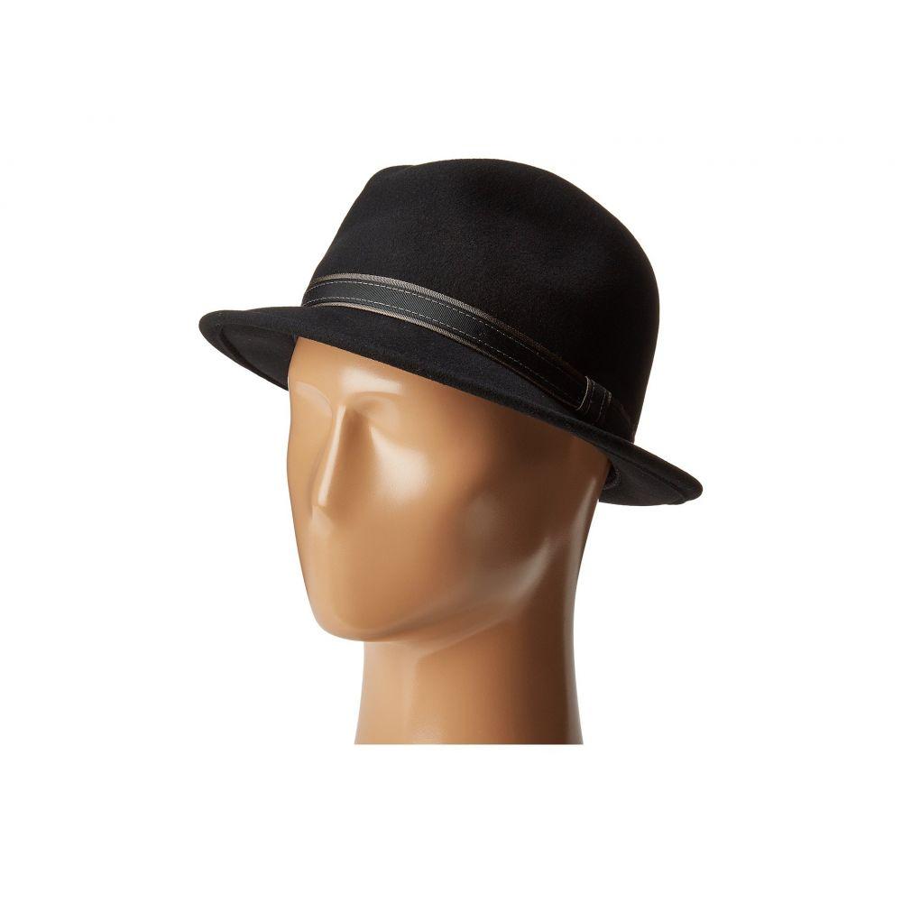 カントリージェントルマン Country Gentleman メンズ 帽子 ハット【Clooney Fedora Hat with Contrast Band】Black