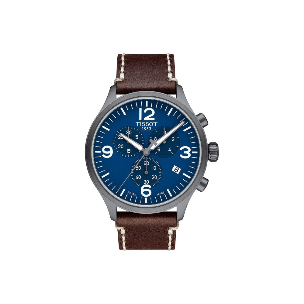 ティソ Tissot メンズ 腕時計【Chrono Xl - T1166173604700】Silver/Brown
