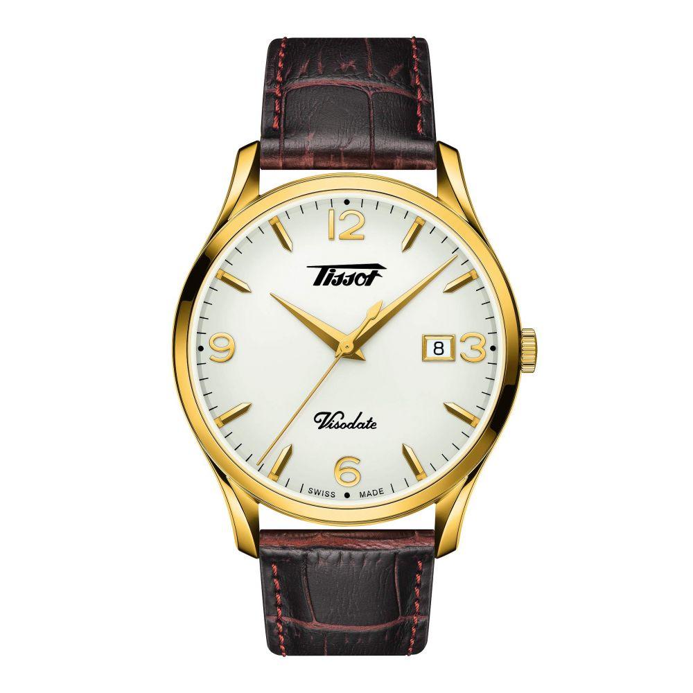 ティソ Tissot メンズ 腕時計【Heritage Visodate - T1184103627700】Brown/Gold