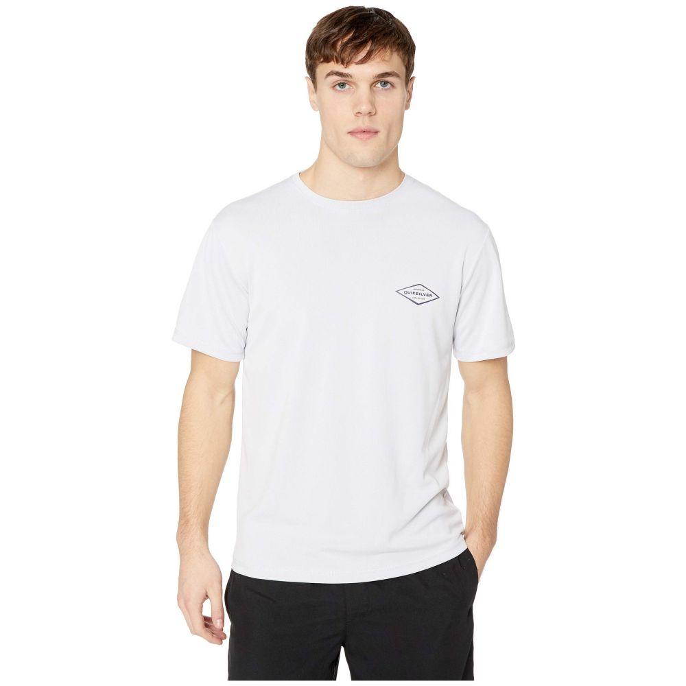 クイックシルバー Quiksilver Waterman メンズ 水着・ビーチウェア ラッシュガード【Gut Check Short Sleeve】White