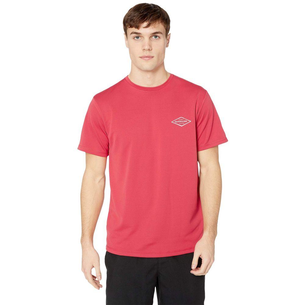 クイックシルバー Quiksilver Waterman メンズ 水着・ビーチウェア ラッシュガード【Gut Check Short Sleeve】Cardinal