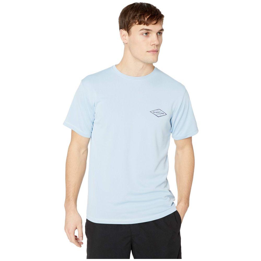 クイックシルバー Quiksilver Waterman メンズ 水着・ビーチウェア ラッシュガード【Gut Check Short Sleeve】Cerulean