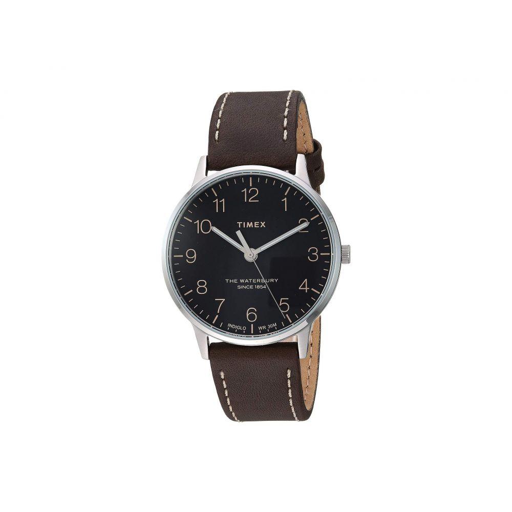 タイメックス Timex メンズ 腕時計【40 mm Waterbury Classic Leather】Black/Brown