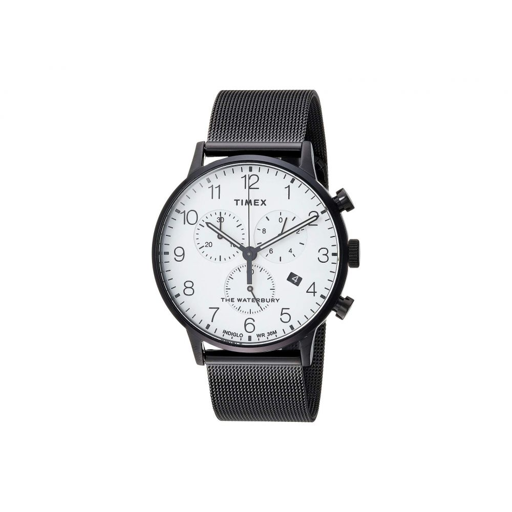 タイメックス Timex メンズ 腕時計【Waterbury Traditional Day Date】Black/White
