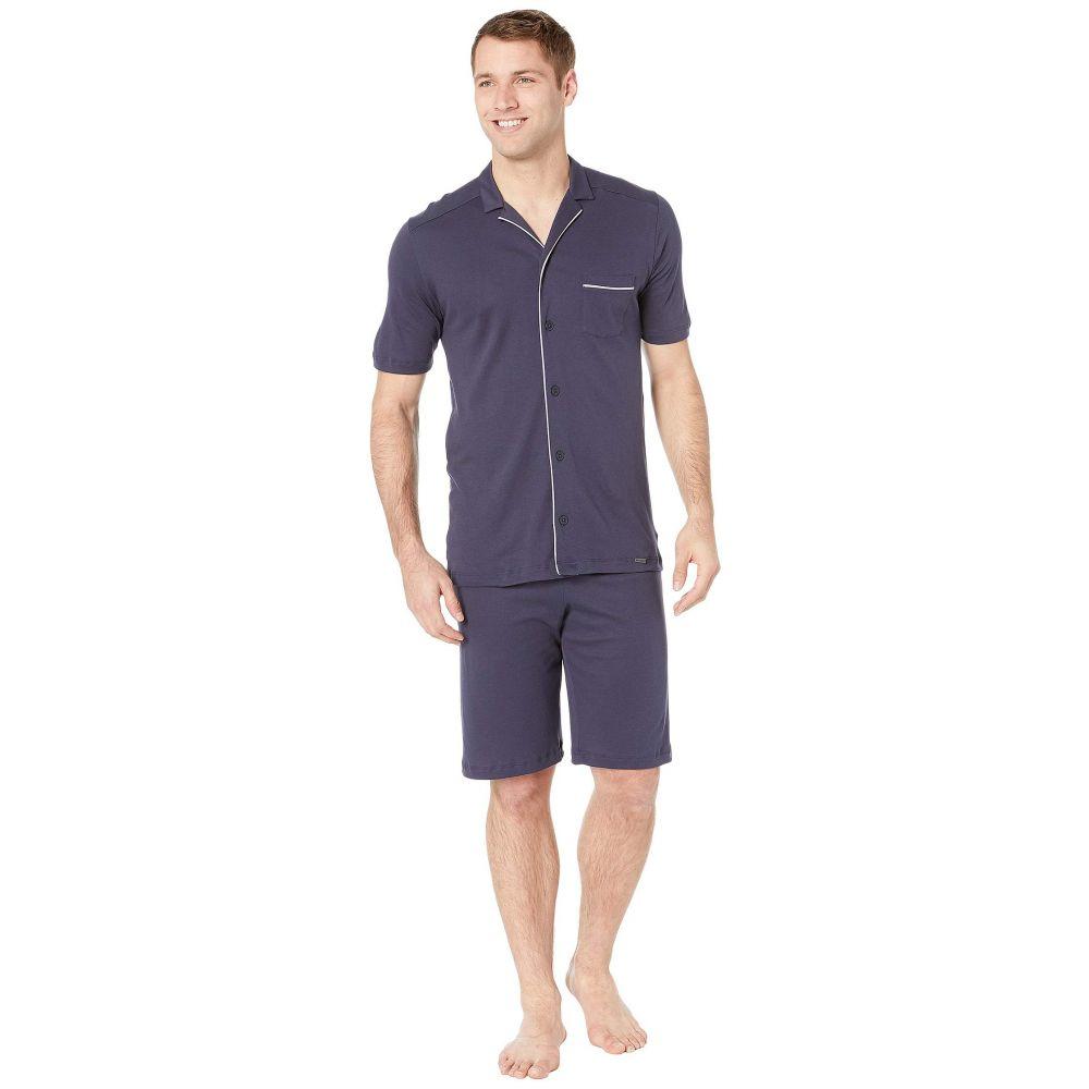 ハンロ Hanro レディース インナー・下着 パジャマ・上下セット【Night & Day Short Sleeve Pajama】Black Iris