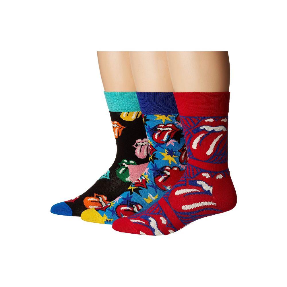最低価格の ハッピーソックス Happy Socks レディース インナー・下着 ソックス【Rolling Stones 3-Pack Sock Box Set】Multi, ハチモリマチ f3062261