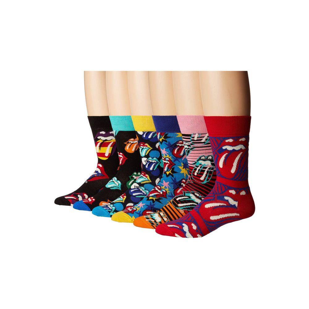 公式の店舗 ハッピーソックス Happy Socks レディース インナー・下着 ソックス【Rolling Stones 6-Pack Sock Box Set】Multi, 泉佐野市 eceafdbc