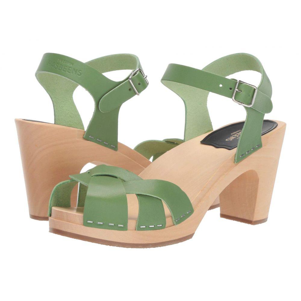スウェディッシュ ハズビーンズ Swedish Hasbeens レディース シューズ・靴 サンダル・ミュール【Kringlan】Grass Green