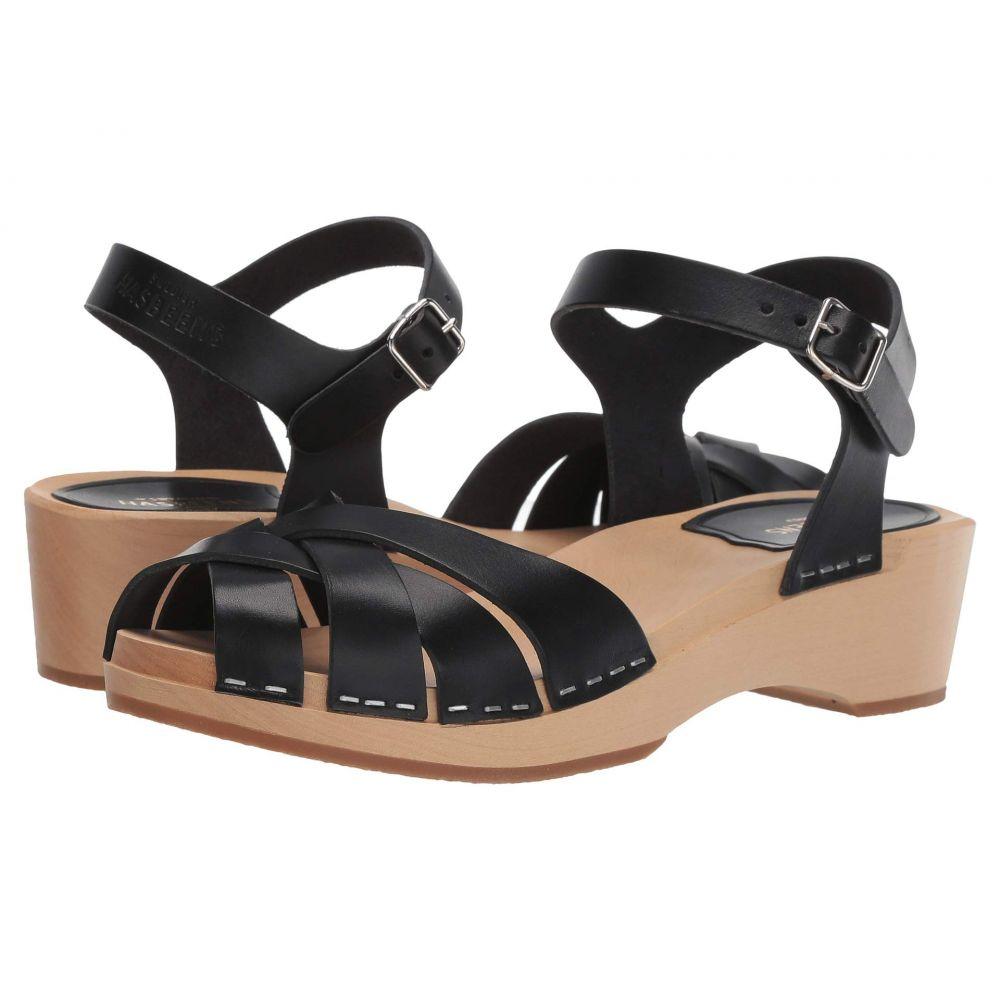 スウェディッシュ ハズビーンズ Swedish Hasbeens レディース シューズ・靴 サンダル・ミュール【Magdalena】Black