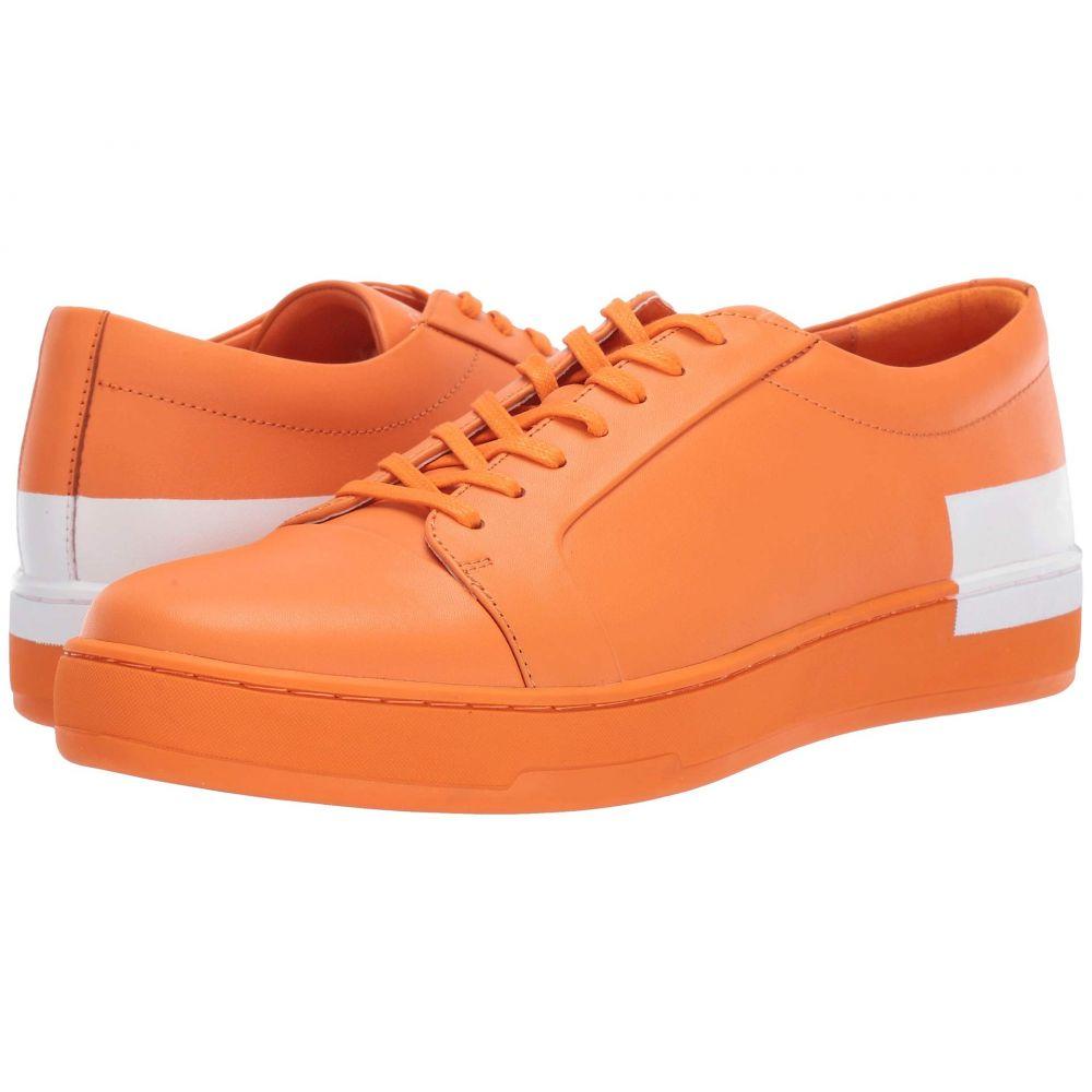 カルバンクライン Calvin Klein メンズ シューズ・靴 スニーカー【Nemi】Orange Nappa Smooth Calf/Logo Over Print